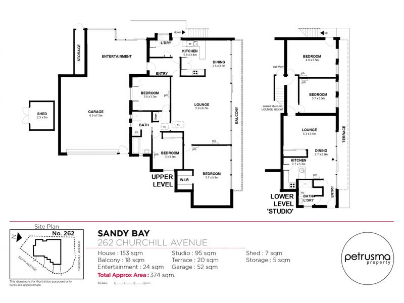 262 Churchill Avenue, Sandy Bay, Tas 7005 - floorplan