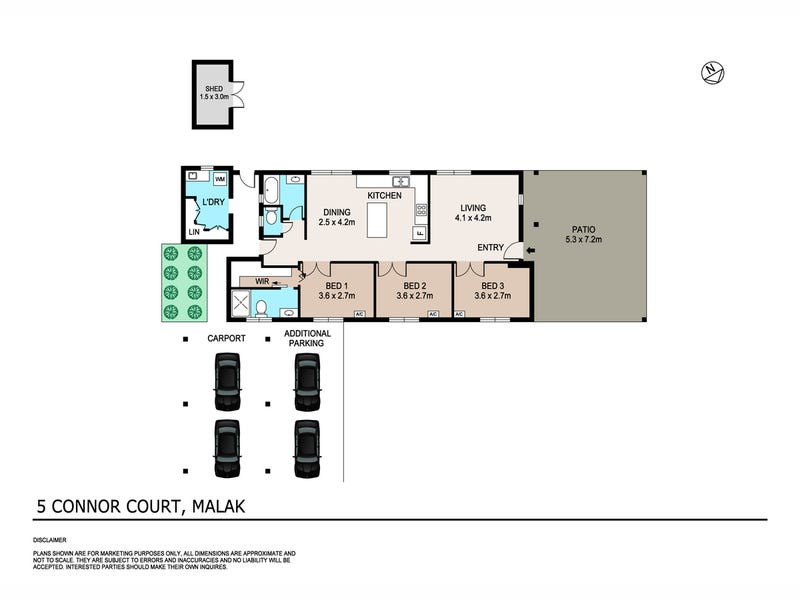 5 Connor Court, Malak, NT 0812 - floorplan