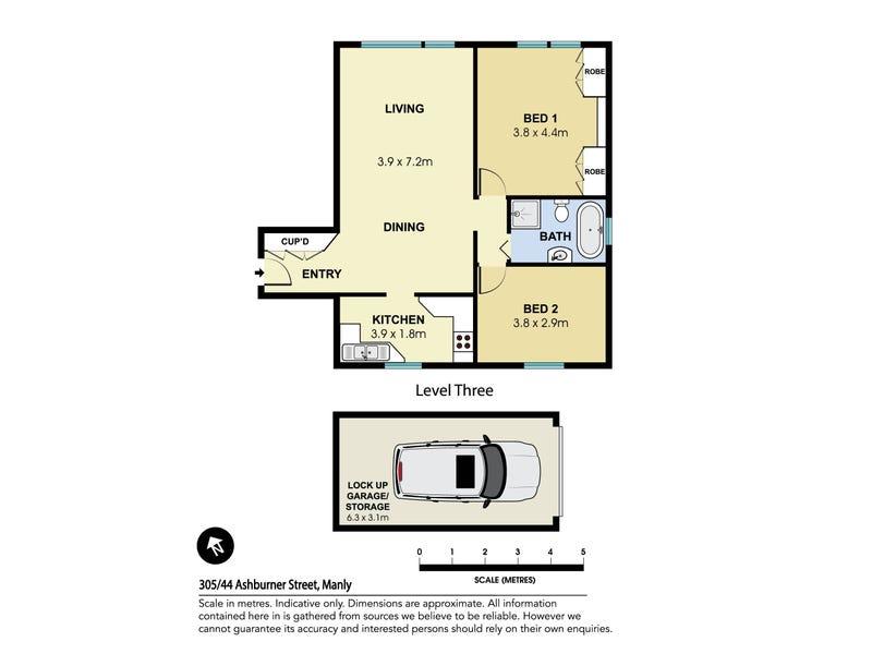305/44 Ashburner Street, Manly, NSW 2095 - floorplan