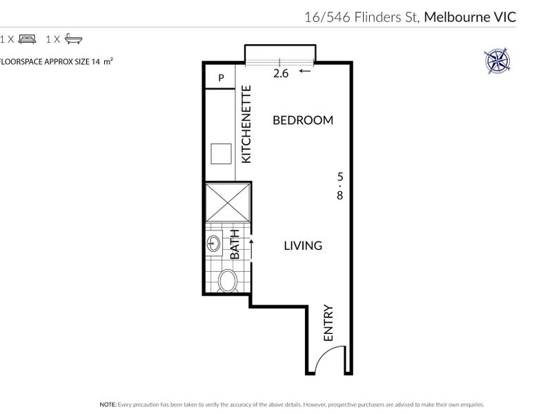 16/546 Flinders Street, Melbourne, Vic 3000 - floorplan