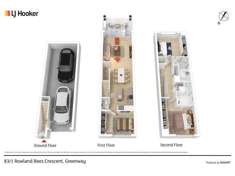 83/1 Rowland Rees Crescent, Greenway, ACT 2900 - floorplan