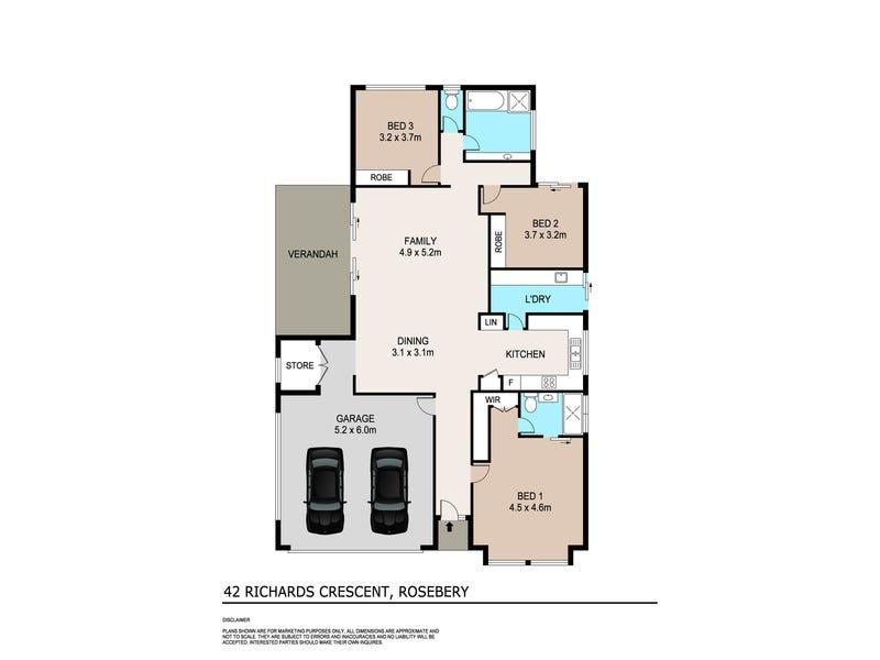 42 Richards Crescent, Rosebery, NT 0832 - floorplan