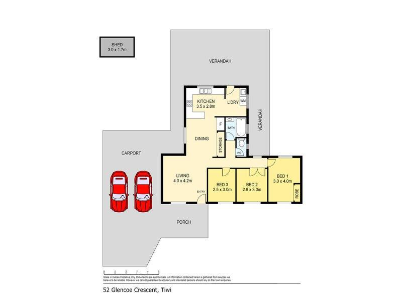 52 Glencoe Crescent, Tiwi, NT 0810 - floorplan