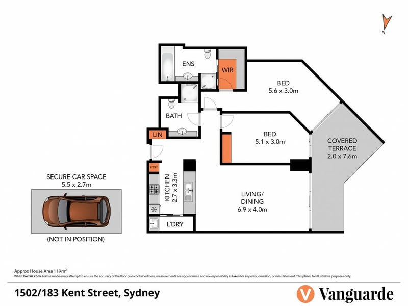1502/183 Kent Street, Sydney, NSW 2000 - floorplan
