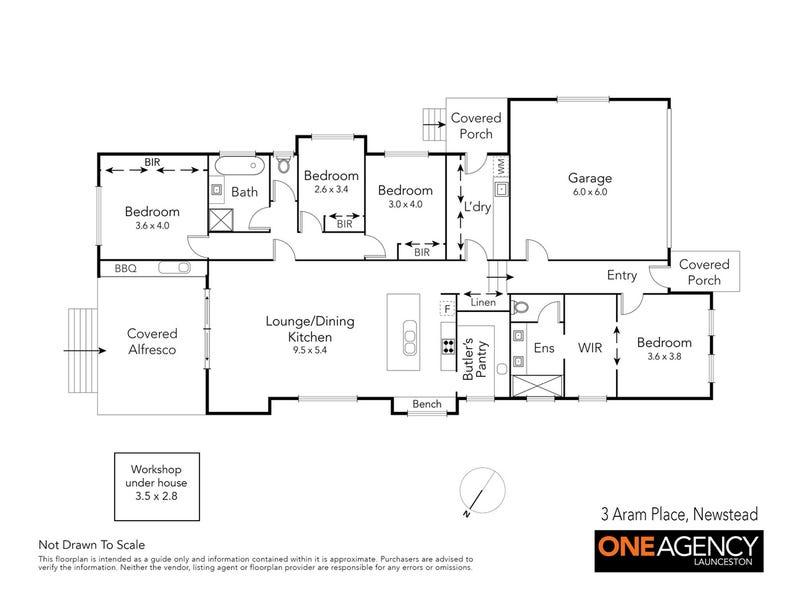 3 Aram Place, Newstead, Tas 7250 - floorplan