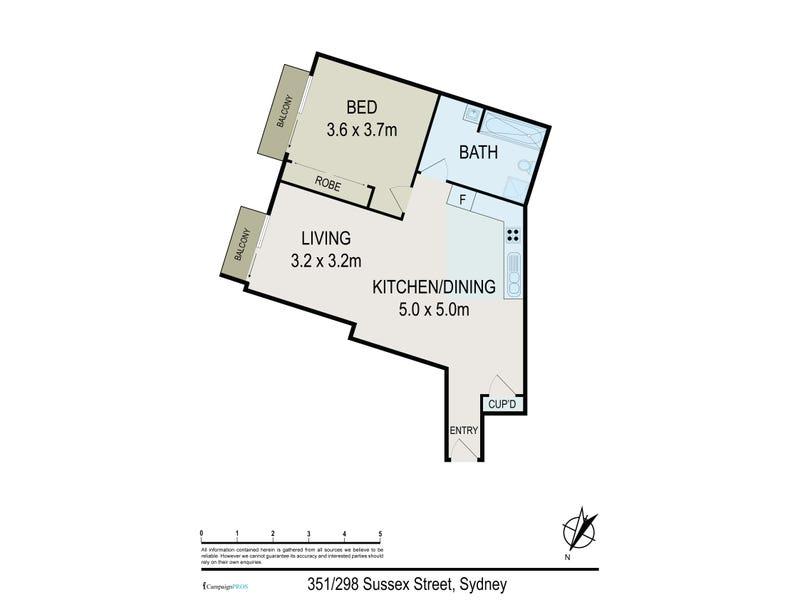 351/298 Sussex Street, Sydney, NSW 2000 - floorplan