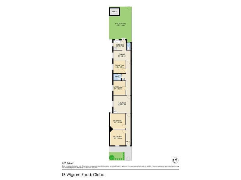 1B Wigram Road, Glebe, NSW 2037 - floorplan