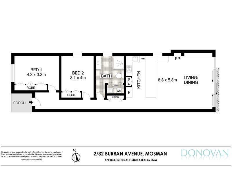 2/32 Burran Avenue, Mosman, NSW 2088 - floorplan