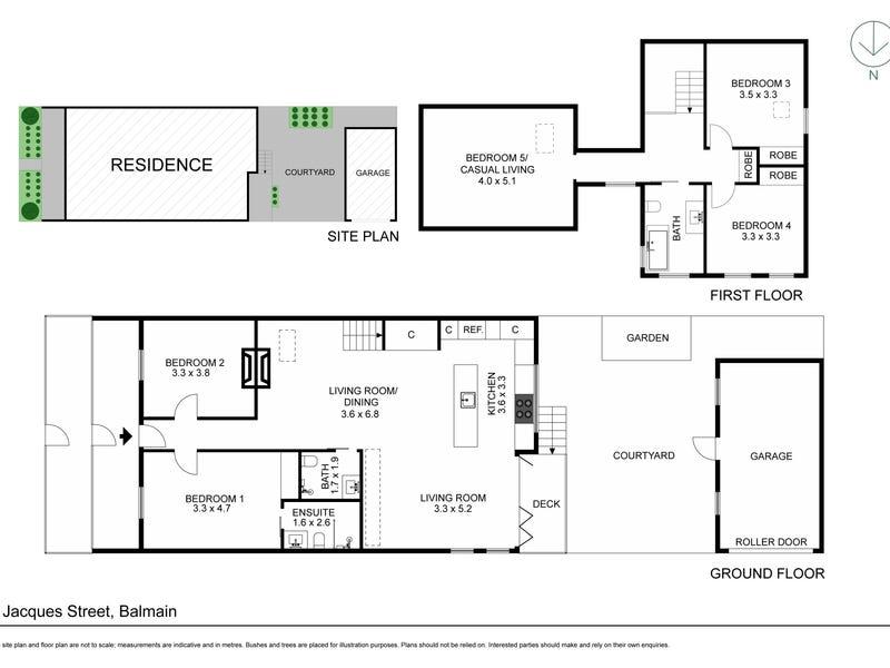 1 Jacques Street, Balmain, NSW 2041 - floorplan
