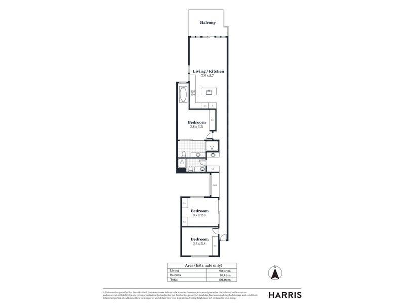 227/344 Seaview Road, Henley Beach, SA 5022 - floorplan