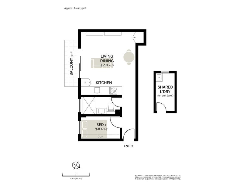 16/14 Avona Avenue, Glebe, NSW 2037 - floorplan