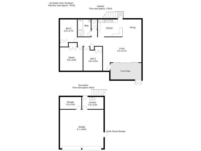 42 Golden Cres, Southport, Qld 4215 - floorplan