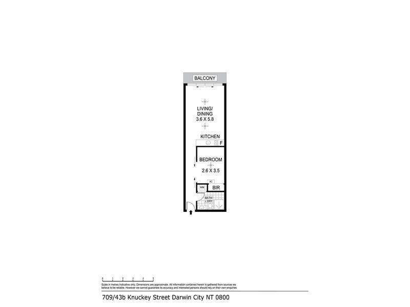 709/43B Knuckey Street, Darwin City, NT 0800 - floorplan