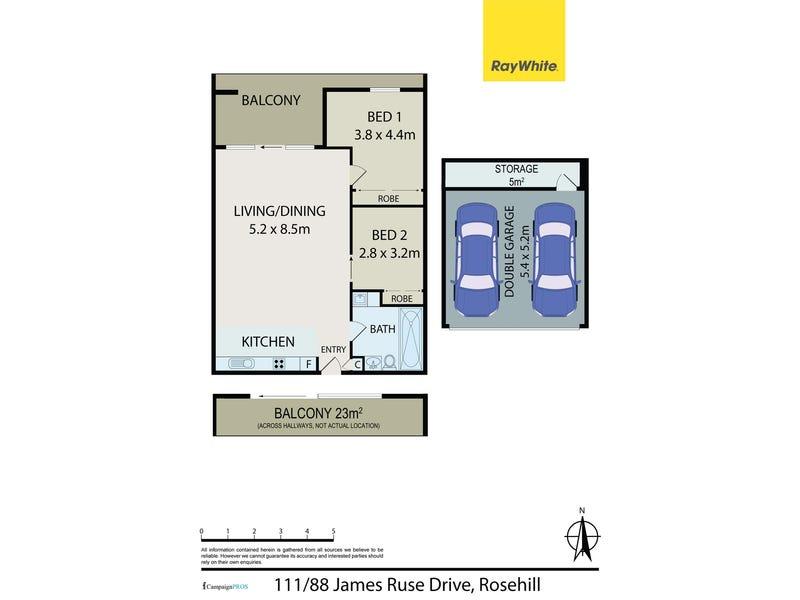 111/88 James Ruse Drive, Rosehill, NSW 2142 - floorplan