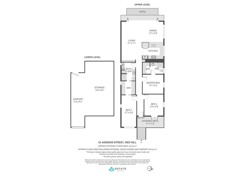 24 Addison St, Red Hill, Qld 4059 - floorplan