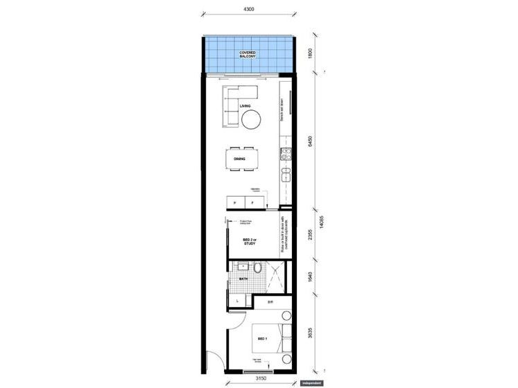 59/29 Dawes Street, Kingston, ACT 2604 - floorplan