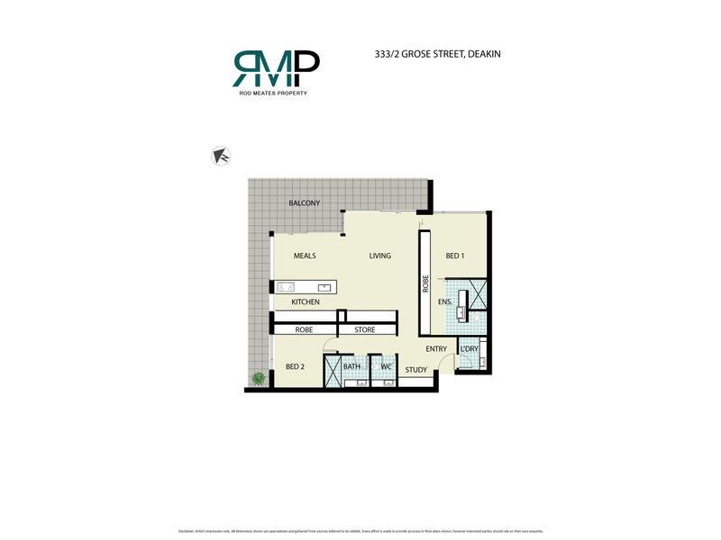 333/2 Grose Street, Deakin, ACT 2600 - floorplan