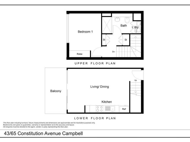 43/65 Constitution Avenue, Campbell, ACT 2612 - floorplan
