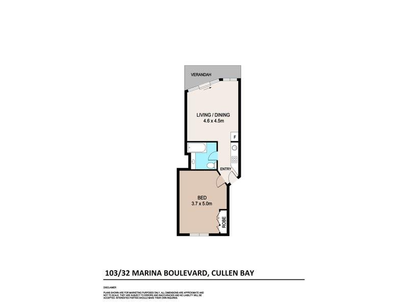 3/32 Marina Boulevard, Cullen Bay, NT 0820 - floorplan