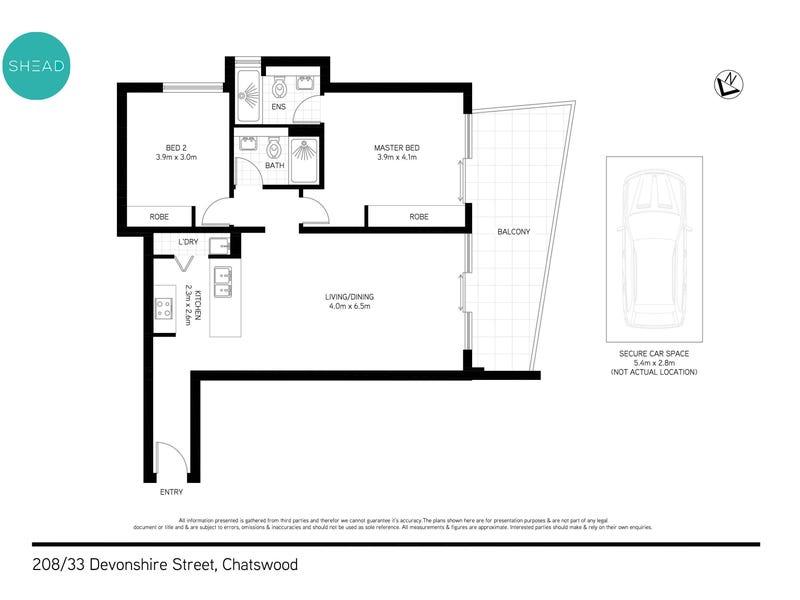 208/33 Devonshire Street, Chatswood, NSW 2067 - floorplan
