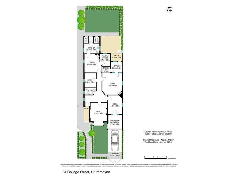 34 College Street, Drummoyne, NSW 2047 - floorplan