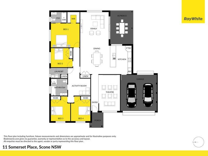 11 Somerset Place, Scone, NSW 2337 - floorplan