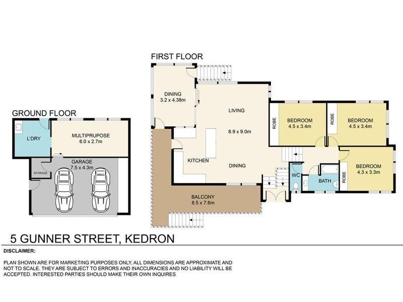 5 Gunner Street, Kedron, Qld 4031 - floorplan