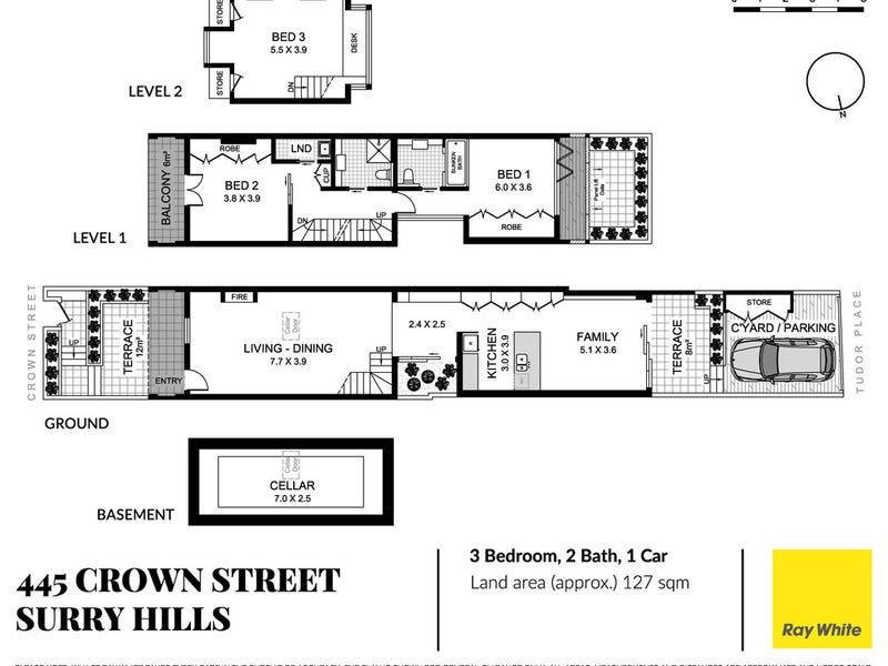 445 Crown Street, Surry Hills, NSW 2010 - floorplan