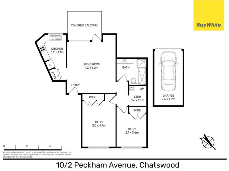 10/2 Peckham Avenue, Chatswood, NSW 2067 - floorplan