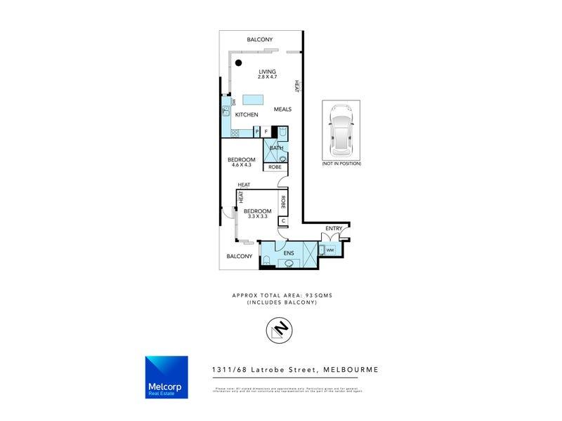 1311/68 La Trobe Street, Melbourne, Vic 3000 - floorplan