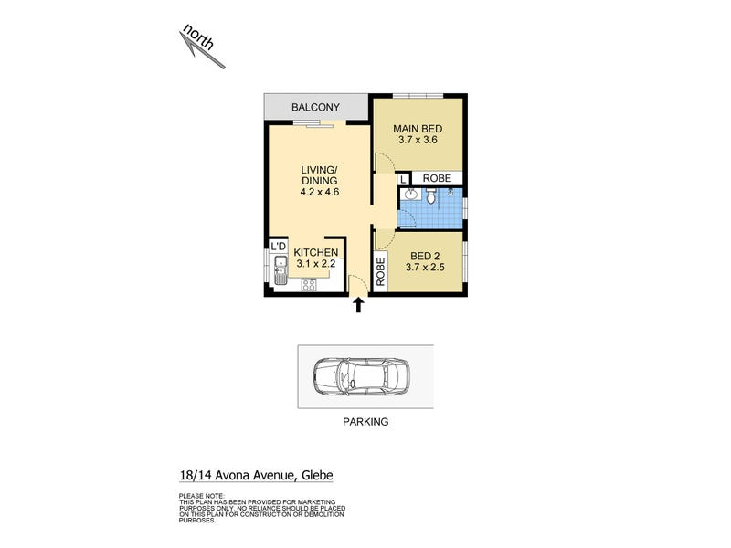 18/14 Avona Avenue, Glebe, NSW 2037 - floorplan