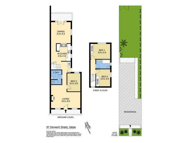 97 Derwent Street, Glebe, NSW 2037 - floorplan
