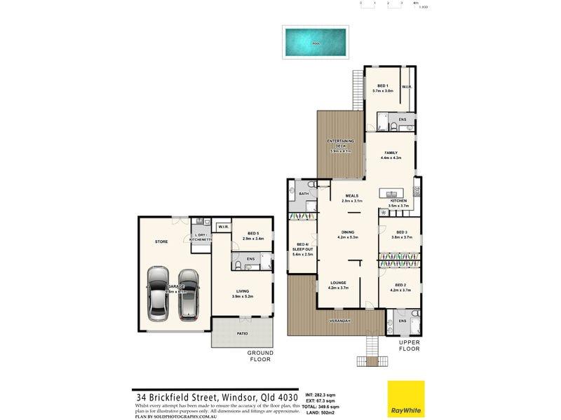 34 Brickfield Street, Windsor, Qld 4030 - floorplan