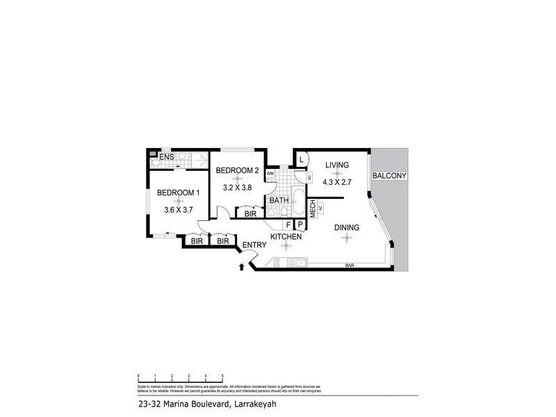 23/32 Marina Blvd, Cullen Bay, NT 0820 - floorplan