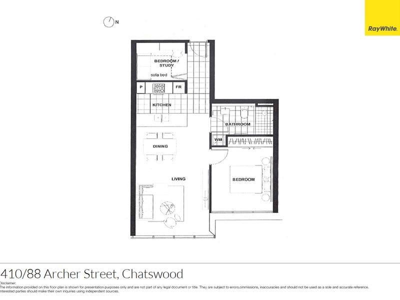 410/88 Archer Street, Chatswood, NSW 2067 - floorplan