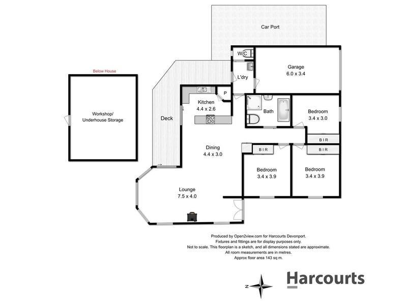 1/17 Bovill Street, East Devonport, Tas 7310 - floorplan