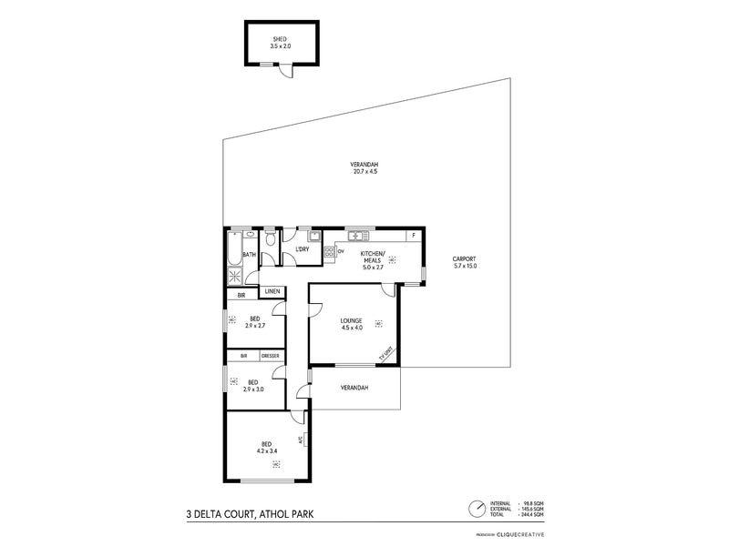 3 Delta Court, Athol Park, SA 5012 - floorplan