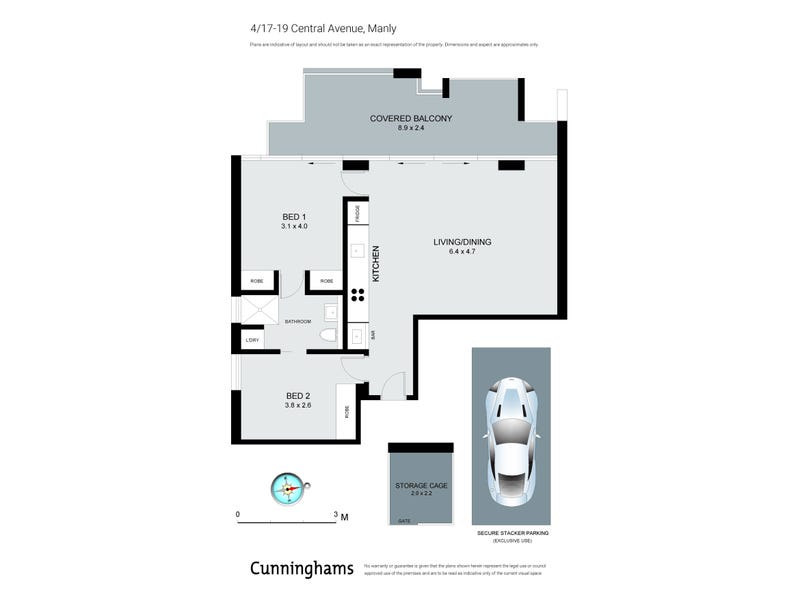4/17 Central Avenue, Manly, NSW 2095 - floorplan