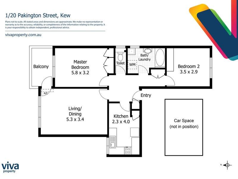 1/20 Pakington Street, Kew, Vic 3101 - floorplan