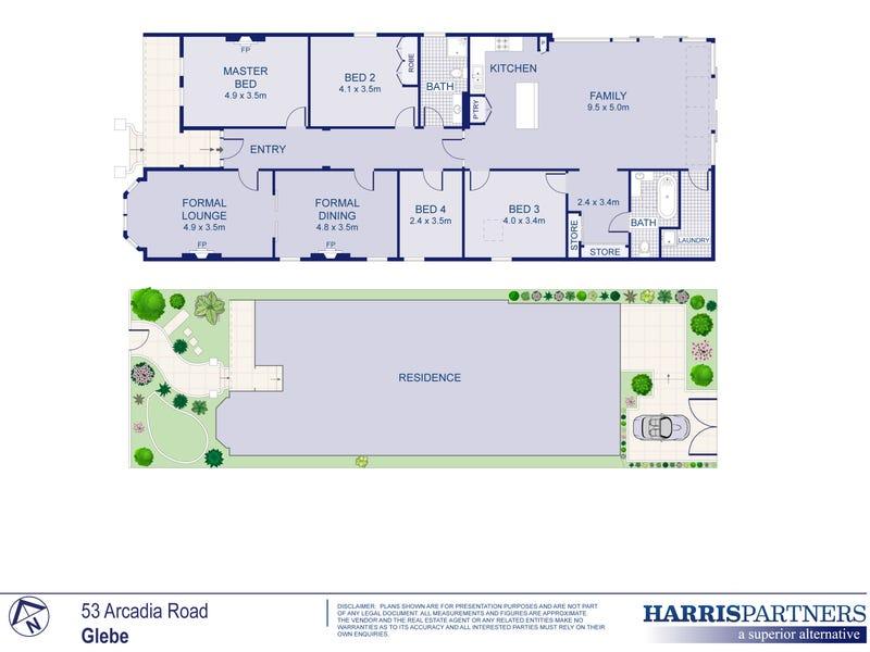 53 Arcadia Road, Glebe, NSW 2037 - floorplan