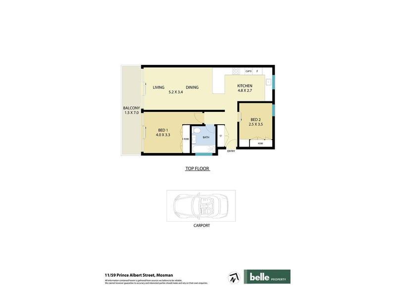 11/59 Prince Albert Street, Mosman, NSW 2088 - floorplan