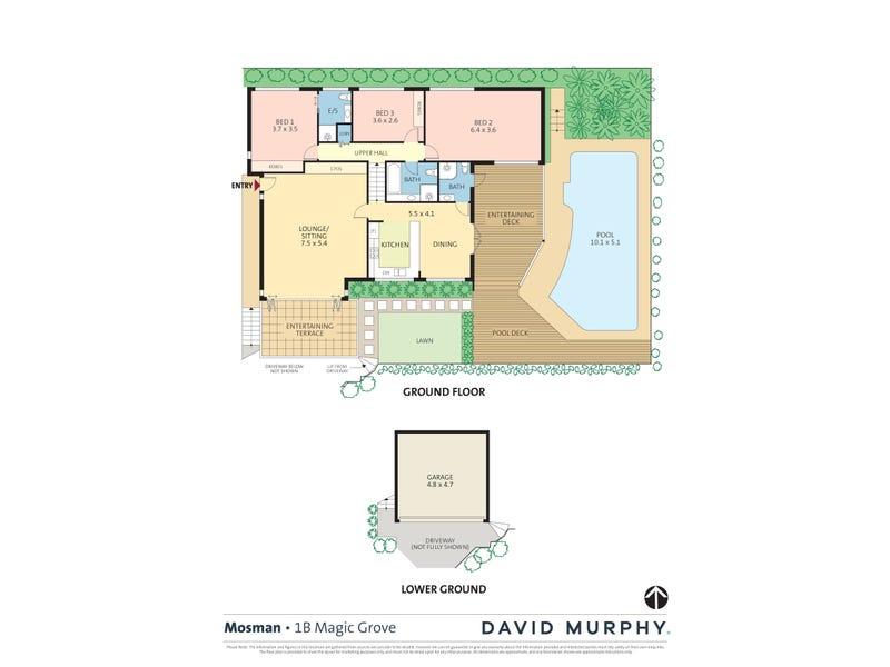 1B Magic Grove, Mosman, NSW 2088 - floorplan