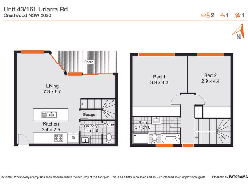 43/161 Uriarra Road, Queanbeyan, NSW 2620 - floorplan