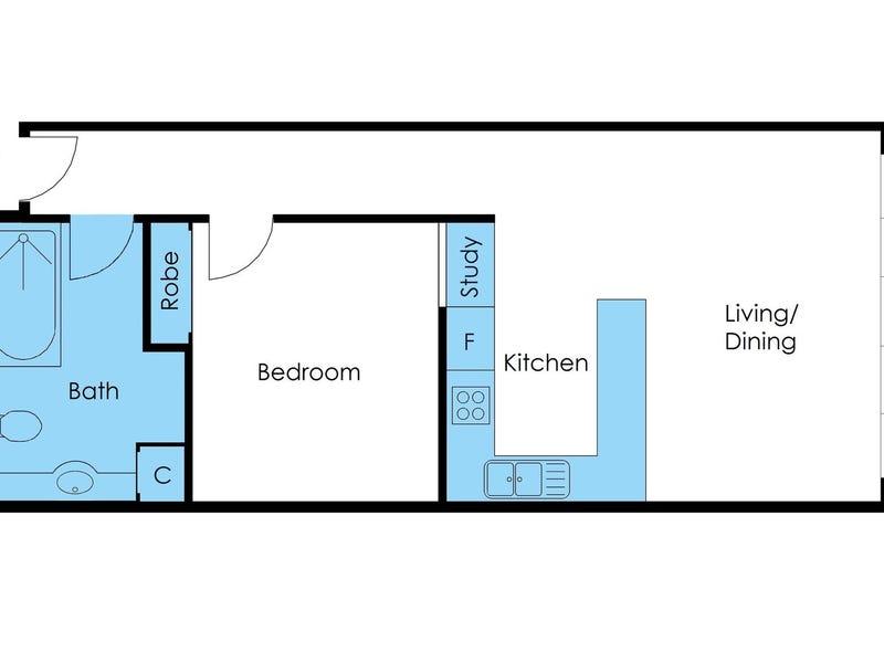 B2/57 Flinders Lane, Melbourne, Vic 3000 - floorplan