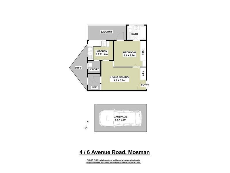 4/6 Avenue Road, Mosman, NSW 2088 - floorplan