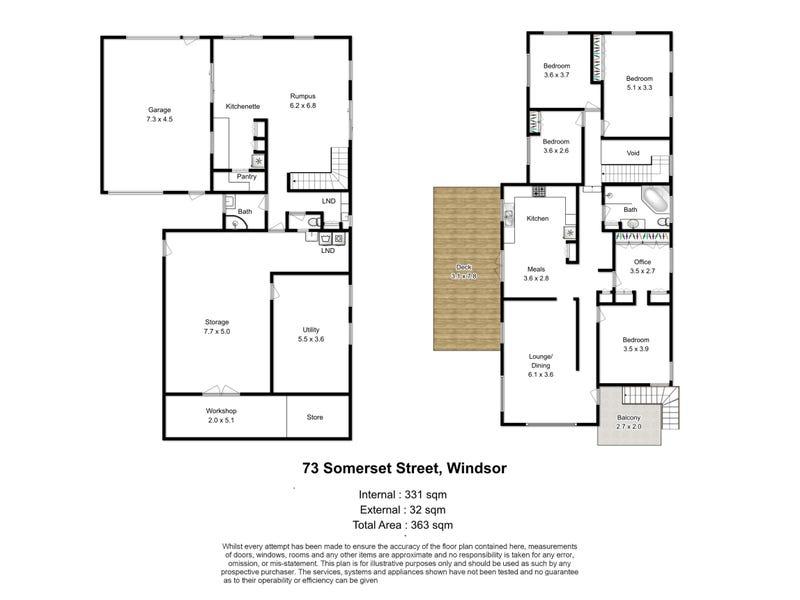 73 Somerset Street, Windsor, Qld 4030 - floorplan