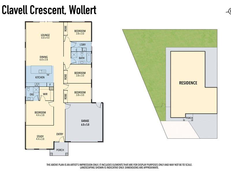 27 Clavell Crescent, Wollert, Vic 3750 - floorplan