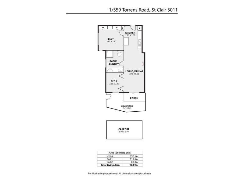 1/559 Torrens Road, St Clair, SA 5011 - floorplan
