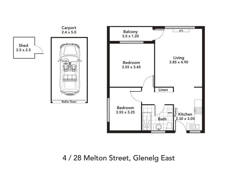 4/28 Melton Street, Glenelg East, SA 5045 - floorplan