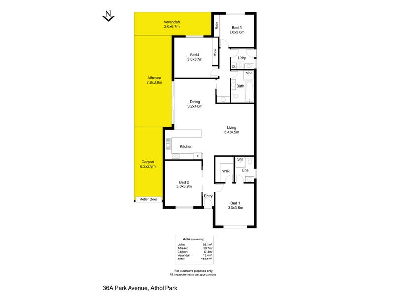 36A Park Avenue, Athol Park, SA 5012 - floorplan